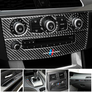Car Stickers Interior Gear Shifter Modification Air Outlet CD Panel Carbon Fiber Decorative Trim for BMW E60 2004-2010 5 Series