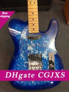 도로 착용 브래드 페이즐리 서명 블루 스파클 T1 내지 일렉트릭 기타 크롬 하드웨어 커스텀 샵 중국 T1 내지 기타