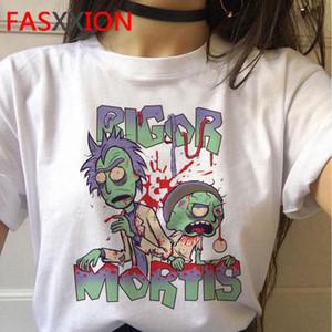 Y lg2010 Nueva camisa fresco hembra Rick Mujeres Estación camisetas Morty 4 E T T salmuera verano divertido Rick Morty Camisa Y animado Et 664_tsetHTv