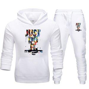 رياضية مصمم هوديي الرجال والنساء بدلة الهيب هوب القطبية ابتزاز أعلى السراويل تناسب الطباعة المتناثرة شخصية أزياء ستر الرجال هوديي ل