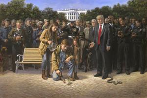 Jon McNaughton SİZE Tuval Wall Art Resim 200824 On Donald Trump Ev Dekorasyonu Handpainted HD Baskı Yağ Paintings UNUTULAN DEĞİLDİR
