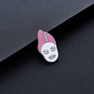 Smalto accessori Donne Pins Gioielli DCARZZ svegli Le donne devono affrontare Pin Badge regalo oro rosa perni metallici di cristallo