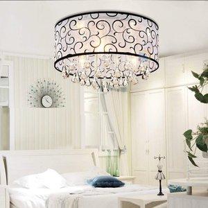 Flush Mounted Moderne Drum-Deckenleuchte Kronleuchter Lampe Lampen-Regen-Tropfen Dekoration Leuchten für Schlafzimmer Wohnzimmer