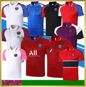 paris soccer jerseys 20 21 paris training suit tracksuit Short Sleeve football shirt jerseys 2020 polo Adult kit