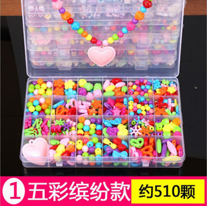 DIY Beads Toys for Children Handmade Educational with Storage Box Bracelet Jewelry Making Toys Creative Girl Jewelry Gift