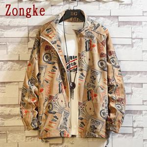 Zongke riflettente Articolo Mens del cappotto del rivestimento degli uomini del rivestimento Streetwear stile coreano Bomber Uomo Abbigliamento M-5XL 2020 Autunno Nuovo