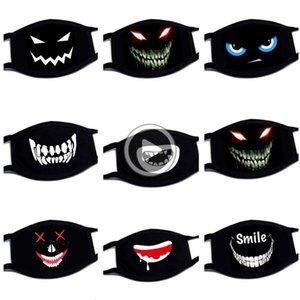 Personalidade Máscara Algodão Dustproof Boca Fa Anime dos desenhos animados Sorte Tooth Mulheres Homens Anti-pó Máscaras Muffle Fa Boca Black Mask criativa