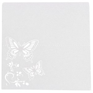 60x Butterfly Flower Place Table Numbers Guest Seating Name Cards for Wedding Party Decoration (Ivory)