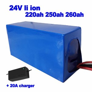 사용자 정의 리튬 24V 220ah 250ah 260ah 리튬 이온 배터리 팩 전원 (80A) BMS 태양 광 AGV 지게차 업에 대한 + 20A 충전기