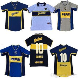 Top Retro Classic 1995 1996 1997 1998 1999 2000 2001 2002 2003 2005 Boca Juniors Jerseys de fútbol Roman Maradona Limited Retro Football Shirt