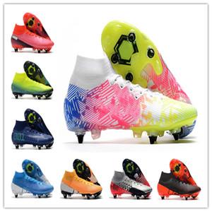أعلى جودة الرجال أحذية كرة القدم زئبقي ال superfly 7 النخبة SG-PRO AC كرة القدم المرابط CR7 Chaussures لكرة القدم أحذية الحجم 39-45