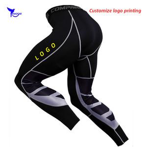 Мужчины сжатия Запуск гетры сетки Лоскутная тренировочные брюки Quick Dry Stretch Gym Фитнес колготки Спортивная Брюки пользовательских