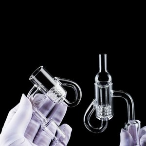 New Quartz Diamond knot Loop Banger Dab Nail Knot Recycler Hole Bubbler Carb Cap Insert Dab Rig glass water bong For Smoking