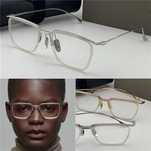 Mode-design neue optische gläser 106 retro k gold quadrat rahmen vintage einfache stil transparente gläser top qualität klare obsen