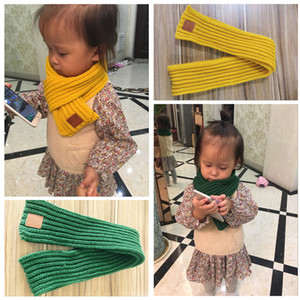 New Childrens Warm Scarves Boys and Girls Solid Color Scarf Kids Autumn Casual All-match Scarves Hot Selling for Choose Wholesale Scarf