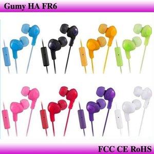 Gumy Ha FR6 Sakızlı Kulaklık Kulaklık 3 .5mm Mini In -Earphone Ha -Fr6 Gumy Artı ile Mic İçin Akıllı Android Telefon ile Perakende Paketi Mq300