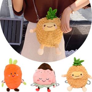 2020 new OCARDIAN handbag School season fashion girls children cute plush fruit pineapple peach peach bags Messenger bag shoulder bag O18