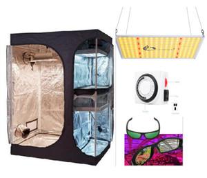 110W Light + 2 grandir en 1 Tente pleine Mylar Kit réfléchissant Grossir Tente intérieur ventilateur axial Filtre conduit Combo complet hydroponique Systèmes de culture