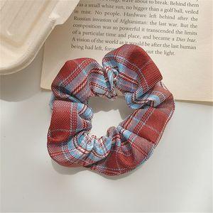 Brandy's Same Forest bm Large Intestine Hair Ring Head Rope Korean Ins Net Red Girl Plaid Hair Accessories