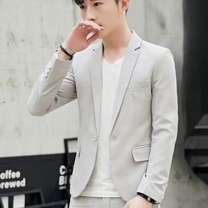 2020 Men's Autumn Casual Suit Youth Fashion Slim Solid Color blazer