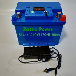 lithium 12V 60AH lifepo4 battery BMS 4S 12.6V for 900W Solar energy storage RV boat inverter monitor +5A Charger