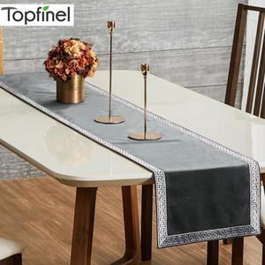 Topfinel geometrica dei corridori della Tabella Modern Luxury Bed Runner panno rettangolo pranzo Decorazione per la festa di nozze Home Office Y200421