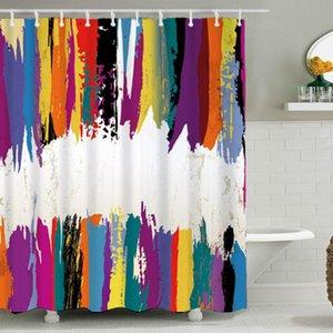 Dafield Bunte Duschvorhang Kunst-Dekor-Ink Badezimmer-Vorhang Wasserdichtes Polyester Dekorative Bad Vorhänge