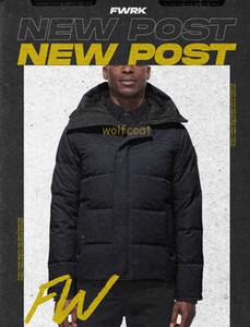새로운 패션 톱 브랜드의 새로운 도착 캐나다 남성 다운 파카 겨울 자켓 북극 파카 네이비 블랙 야외 코트 후드 Hiver Manteau Doudoune