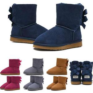 2020 Hotsale boots kids Australia Classic winter snow boots girl Bowtie fashion Ankle Plus cotton Keep warm size 26-35