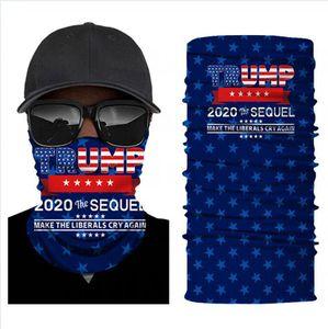 Trump Biden Magie Turban 2020 Election Amerikanische Flagge Außenreitstirnband Bandanas 36 Styles Gesichtsmaske DDA495