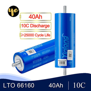 6pcs nagelneue 40Ah Lithium-Titanat-Batterie LTO 2.3V 10C Entladungszellen für DIY 12V 24V 36V 48V-Pack Yinlong
