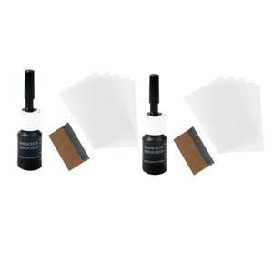 Parabrezza dell'automobile 2x Nano kit di riparazione Vedova Riparazione Fluid strumento graffi