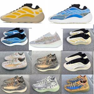2020 İndirim 700V3 Azael Beyaz Glow Mens Kanye West Karbon Parlak 380 biber sis Runner Arzareth Spor Sneakers Koşu ayakkabıları