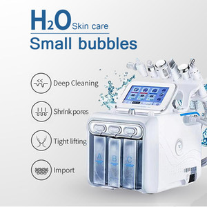 New 6 in 1 Hydrafacial Machine Hydro Dermabrasion Facial Peeling Ultrasonic Skin Scrubber Oxygen Spray Skin Care Microdermabrasion