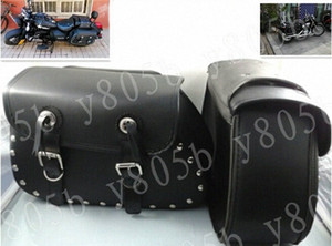 Universal Side Bag Saddle Bags For Sportster XL883 1200 Dyna Wide Glide Bobber Road Kings Electra Glide Softail 5PZf#