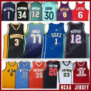 NCAA 77 Luka 1 Sion Doncic Jersey Duke Williamson Giannis azul Antetokounmpo Ja Murray Morant Devilss camiseta de baloncesto de la universidad