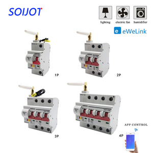 Pas cher Breakers 1-4P WiFi air disjoncteur intelligente surcharge interrupteur automatique de protection court-circuit interrupteur d'alimentation des ménages