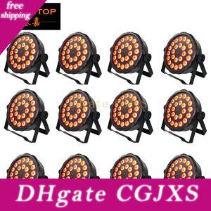 Müthişim 12 Birimler Professional 24x3w RGBW Par DMX Led Sahne Aydınlatma Etkisi DMX512 Usta -Slave Dj