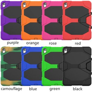 """Three in One PC Silicone Case with Screen Frame Cover for Ipad Mini Ipad Air Newest 2020 Pro 11"""" 12.9"""" with Kickstand"""