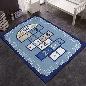 Baby Game Mat Lattice Letter Printed Playmats Living Room Decoration Children Bedroom Bedside Carpet Kids Gift Number Floor Mat
