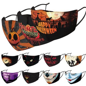 18 Style Halloween face mask designer face masks Christmas skull PM2.5 dustproof 3D dimensional mask can be washed and reused mask DWA1546