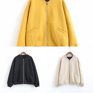 cWWWL Интернет 338-0239 NIgzL знаменитости бейсбол одежды женской осень Нового потерять случайную куртку простой молнии короткого костюма пальто пальто бейсбола
