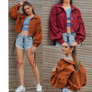 Women's Jacket Down Drop Sleeve Cropped Classical Style Autumn Winter Fashion Female Sweater Brown Red Selected Size M-XL