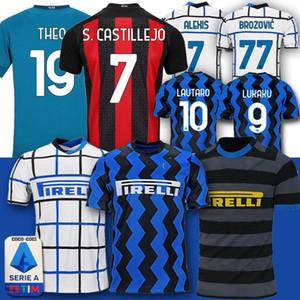2020 Inter Milan Lukaku Football Jersey LAUTARO ALEXIS ERIKSEN Škriniar Ibrahimovic GODIN PIATEK S.CASTILLEJO Hommes enfants camiseta de Futebol
