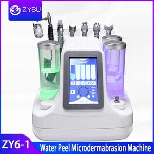 6in1 Su Peeling Yüz Güzellik BIO Ultrasonik Makinesi Cilt Mikrodermabrazyon Hidro Peel Hydrafacial Dermabrazyon Hydra Peel Spa Equi 0SqQ #