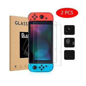 Protectores de pantalla para Interruptor serie de juegos de cristal templado de la película de protección para Nintendo Lite conmutado con el paquete vendido al por menor