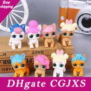 8 Style Lol Doll Pet Dog Doll Cute Anime Key Ring Cake Decoration Cartoon Car Small Ornaments Pvc Action Figures