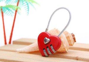 100шт Прекрасные формы сердца сбрасываемый Padlock комбинации металла чемодана багажа Сумка Diary 3 Digits Блокировка кабинета Безопасный ..
