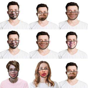 Uk Kargo Unisex Yıkanabilir Komik Hayvan Pamuk toz geçirmez Koruyucu Yüz Maskeleri Yaratıcı Baskılı Yüz Maskesi Uk Maskesi