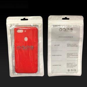 Zipper-Telefon-Kasten Verpackungsbeutel für Samsung Galaxy S20 S10 iPhone 11 Pro Max X XS Huawei Xiaomi Phone Case Kleinverpackung OPP Poly Bag